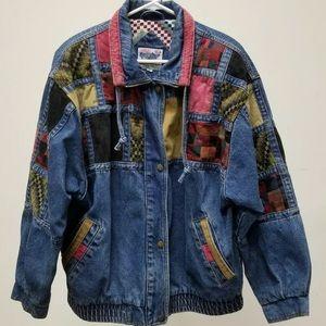 Jackets & Blazers - VTG 90s CURRENT SEEN denim patchwork  jacket